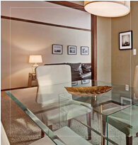 Glass Dining Area - Faulker Realty Group